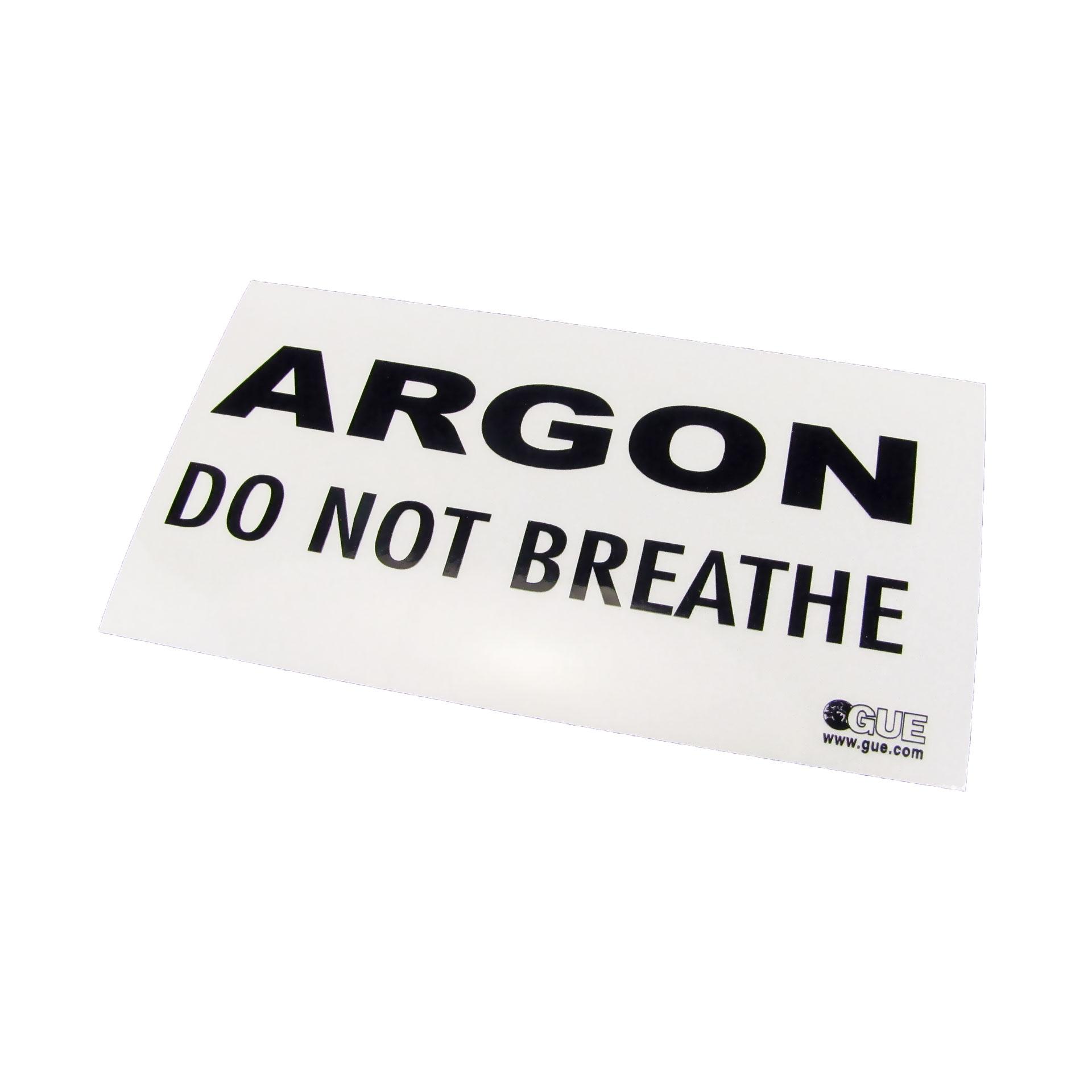 Argon Warning Decal